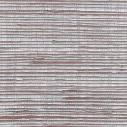 Jute Fiber Grasscloth Wallpaper on Silver Foil