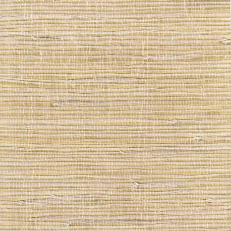 Jute Fiber Grasscloth Wallpaper on Gold Foil