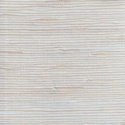 Natural Jute Grasscloth Wallpaper on Silver Foil Background