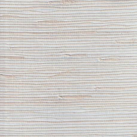 Natural Jute Grasscloth Wallpaper on Silver Foil Background