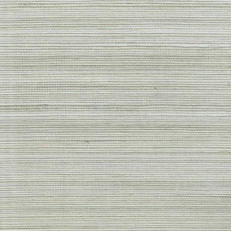 Natural Sisal Grasscloth Wallpaper on Silver Foil Background
